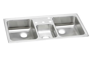"Image for Elkay Pacemaker Stainless Steel 43"" x 22"" x 7-1/8"", Triple Bowl Top Mount Sink from ELKAY"