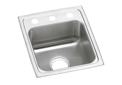 "Image for Elkay Pacemaker Stainless Steel 15"" x 17-1/2"" x 7-1/8"", Single Bowl Top Mount Sink from ELKAY"