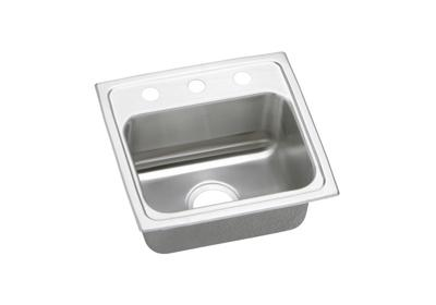 "Image for Elkay Pacemaker Stainless Steel 17"" x 16"" x 7-1/8"", Single Bowl Top Mount Sink from ELKAY"