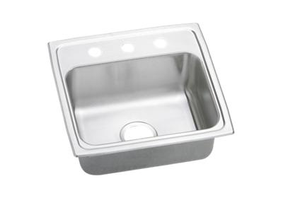 "Image for Elkay Pacemaker Stainless Steel 19"" x 18"" x 7-1/8"", Single Bowl Top Mount Sink from ELKAY"