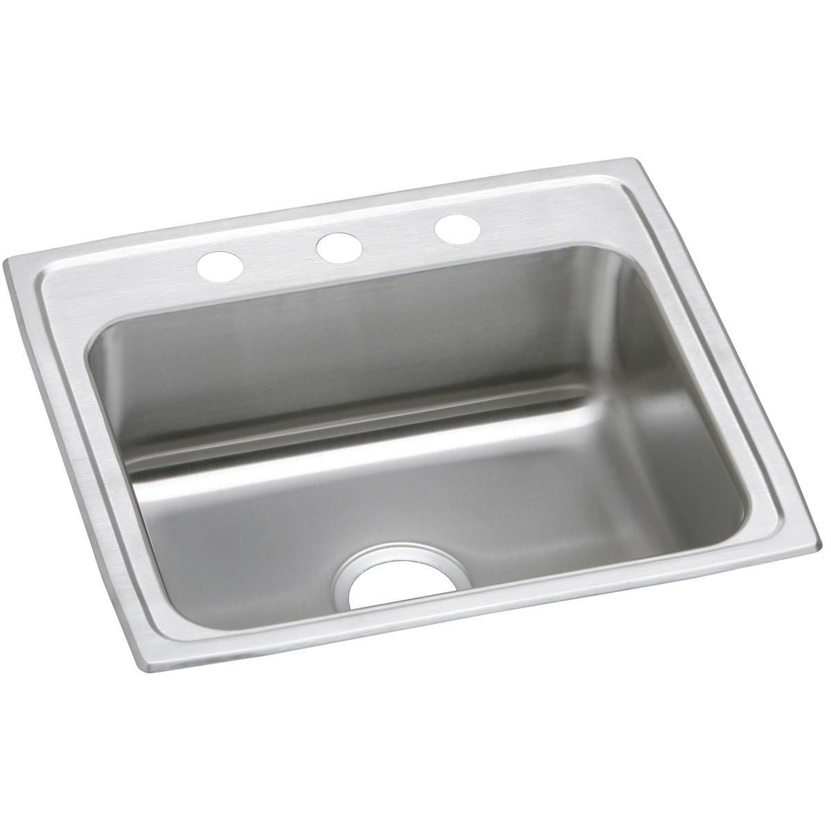 "Elkay Celebrity Stainless Steel 22"" X 19-1/2"" X 7-1/8"", Single Bowl Drop-in Sink"