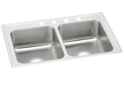 "Image for Elkay Pacemaker Stainless Steel 33"" x 21-1/4"" x 7-1/2"", Equal Double Bowl Top Mount Sink from ELKAY"