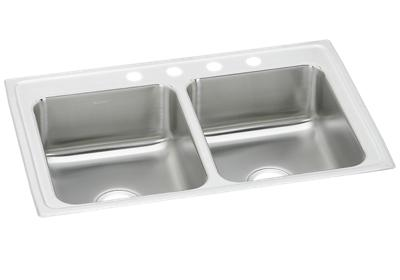 "Image for Elkay Pacemaker Stainless Steel 33"" x 22"" x 7-1/2"", Equal Double Bowl Top Mount Sink from ELKAY"