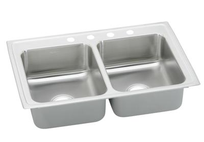 "Image for Elkay Pacemaker Stainless Steel 43"" x 22"" x 7-1/8"", Equal Double Bowl Top Mount Sink from ELKAY"