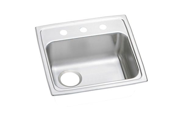 "Elkay Celebrity Stainless Steel 19-1/2"" x 19"" x 5-1/2"", Single Bowl Top Mount ADA Sink"