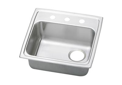 "Image for Elkay Pacemaker Stainless Steel 19-1/2"" x 19"" x 5-1/2"", Single Bowl Top Mount Sink from ELKAY"