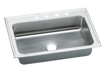 "Image for Elkay Pacemaker Stainless Steel 33"" x 22"" x 7-1/4"", Single Bowl Top Mount Sink from ELKAY"