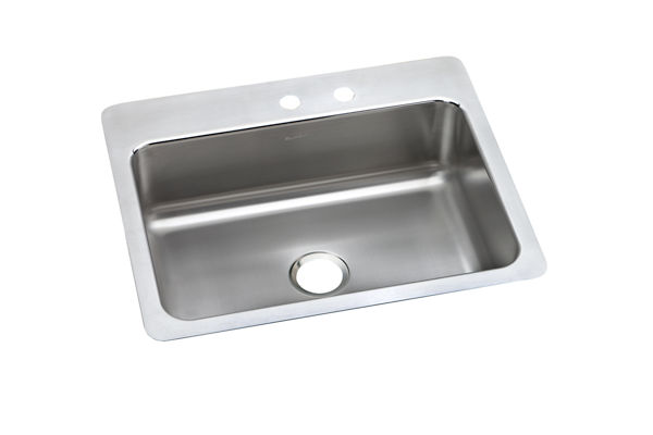 "Elkay Pacemaker Stainless Steel 27"" x 22"" x 7-1/2"", Single Bowl Dual Mount Sink"