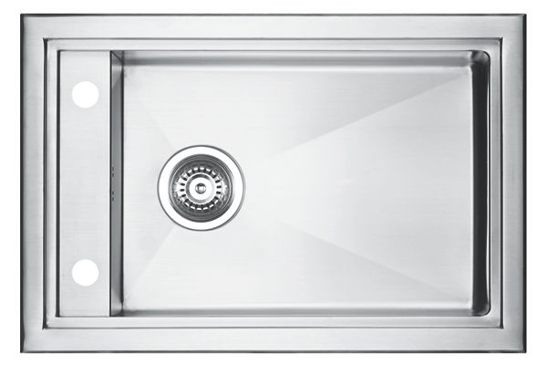 Stainless Steel 681 x 455 x 206 Single Bowl Top Mount Kitchen Sink
