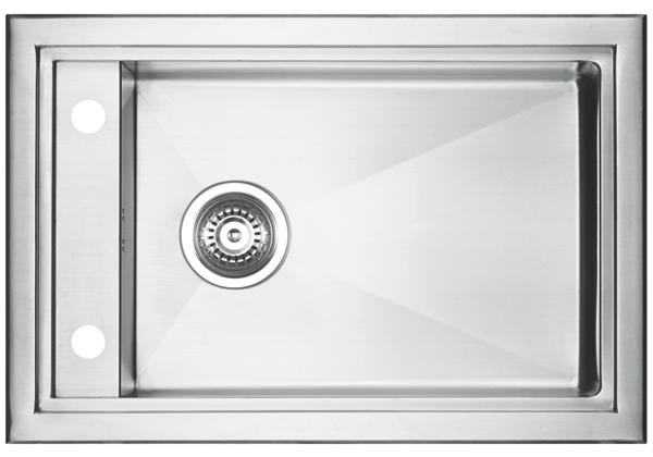 Image for Stainless Steel 681 x 455 x 206 Single Bowl Top Mount Kitchen Sink from Elkay Middle East