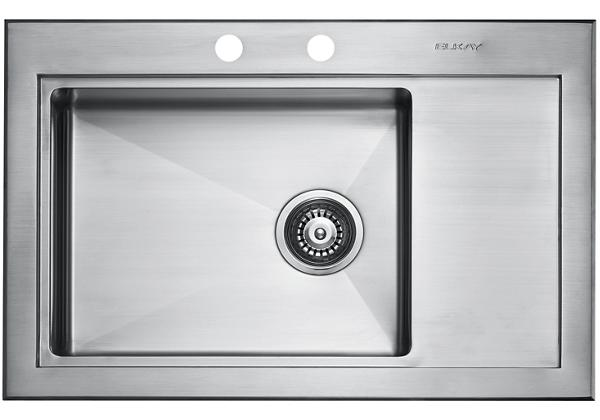 Image for Stainless Steel 777 x 505 x 196 Single Bowl With One Drainer Top Mount Kitchen Sink from Elkay Europe and Africa