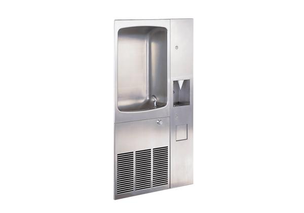 Image for Halsey Taylor Wall Mount Full Recessed Cooler, Non-Filtered 12 GPH Stainless from Halsey Taylor