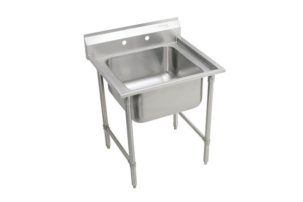 "Elkay Rigidbilt Stainless Steel 27"" x 29-3/4"" x 12-3/4"", Floor Mount, Single Compartment Scullery Sink"