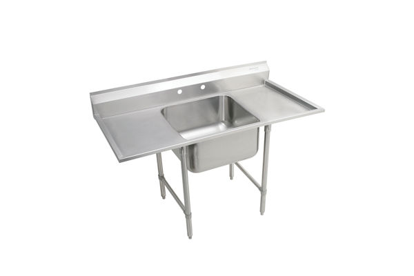 "Elkay Rigidbilt Stainless Steel 27"" x 29-3/4"" x 12-3/4"" Floor Mount, Single Compartment Scullery Sink w/ Drainboard"