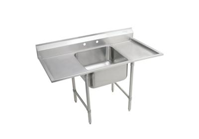 "Image for Elkay Rigidbilt Stainless Steel 33"" x 29-3/4"" x 12-3/4"" Floor Mount, Single Compartment Scullery Sink w/ Drainboard from ELKAY"