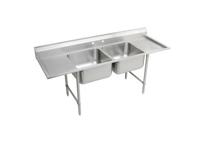 "Image for Elkay Rigidbilt Stainless Steel 77-1/4"" x 29-3/4"" x 12-3/4"" Floor Mount, Double Compartment Scullery Sink Drainboard from ELKAY"
