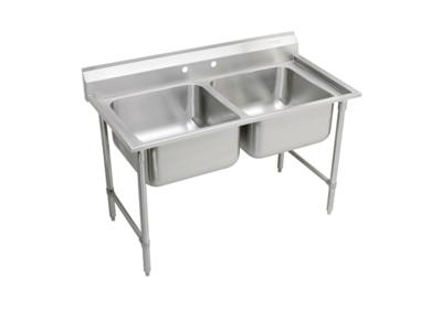 "Image for Elkay Rigidbilt Stainless Steel 59-1/4"" x 29-3/4"" x 12-3/4"", Floor Mount, Double Compartment Scullery Sink from ELKAY"