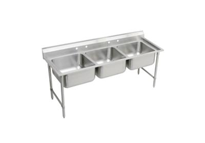 "Image for Elkay Rigidbilt Stainless Steel 67-1/4"" x 29-3/4"" x 12-3/4"", Floor Mount, Triple Compartment Scullery Sink from ELKAY"