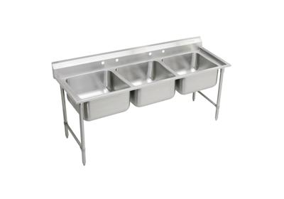 "Image for Elkay Rigidbilt Stainless Steel 85-1/2"" x 29-3/4"" x 12-3/4"", Floor Mount, Triple Compartment Scullery Sink from ELKAY"