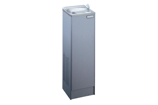 Halsey Taylor Floor Mount Cooler, Non-Filtered 10 GPH Stainless