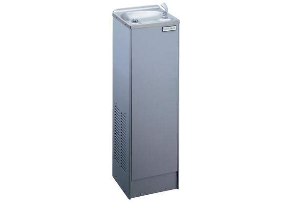 Image for Halsey Taylor Floor Mount Cooler, Non-Filtered 5 GPH Platinum Vinyl from Halsey Taylor