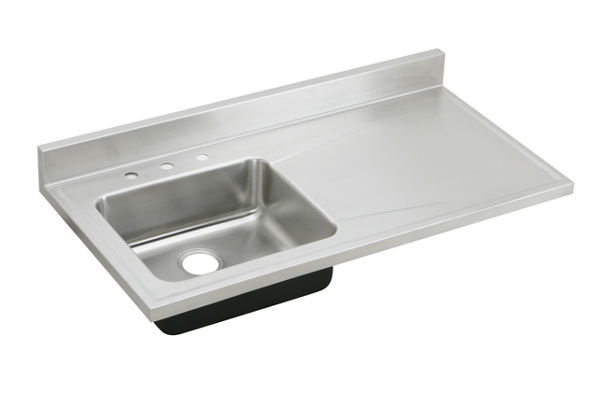 Stainless Steel Sink With Counter : ... stainless steel 48 x 25 x 7 1 2 single bowl sink top s4819l stainless