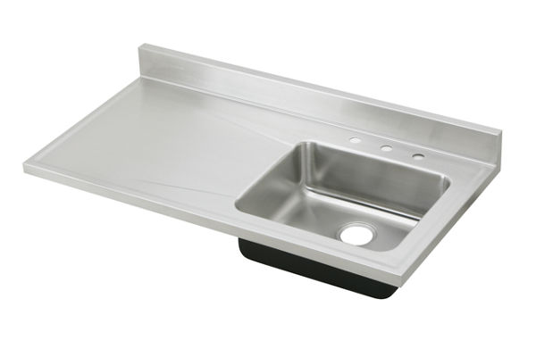 "Elkay Lustertone Stainless Steel 48"" x 25"" x 7-1/2"", Single Bowl Sink Top"