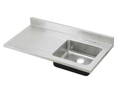 Image for gourmet lustertone stainless steel single bowl for Stainless steel countertop with built in sink
