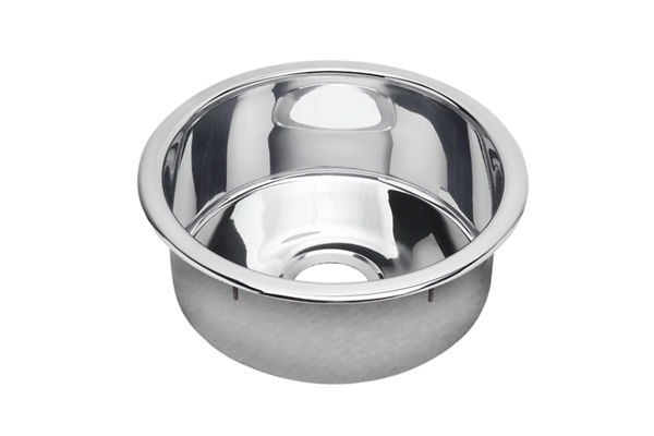 "Elkay Stainless Steel 16-3/8"" x 16-3/8"" x 7"", Single Bowl Dual Mount Bar Sink, Mirror"
