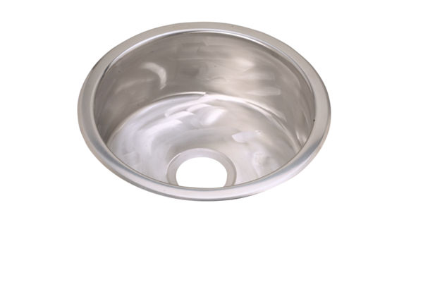"Elkay Stainless Steel 16-3/8"" x 16-3/8"" x 7"", Single Bowl Dual Mount Bar Sink, Rugged Textured"