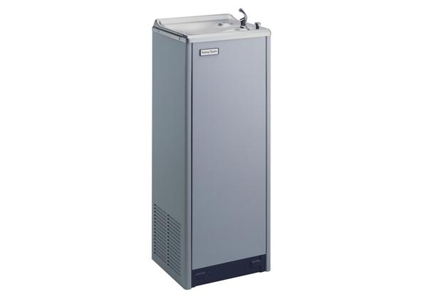 Image for Halsey Taylor Floor Mount Cooler, Non-Filtered 14 GPH Platinum Vinyl from Halsey Taylor