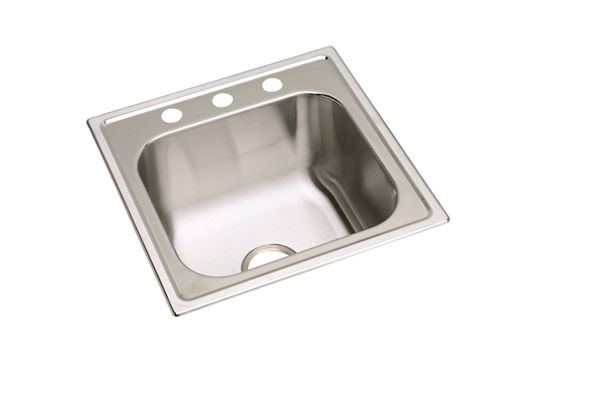 "Elkay Stainless Steel 20"" x 20"" x 10-1/8"", Single Bowl Top Mount Sink"
