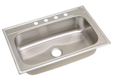 "Image for Elkay Stainless Steel 33"" x 22"" x 8-1/4"", Single Bowl Top Mount Sink from ELKAY"