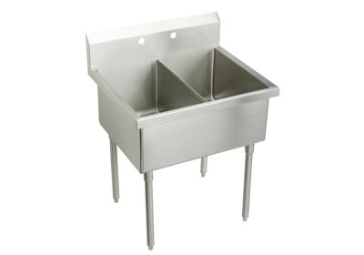 "Image for Elkay Sturdibilt Stainless Steel 39"" x 27-1/2"" x 14"" Floor Mount, Double Compartment Scullery Sink from ELKAY"