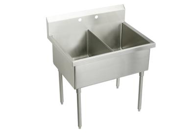 "Image for Elkay Sturdibilt Stainless Steel 51"" x 27-1/2"" x 14"" Floor Mount, Double Compartment Scullery Sink from ELKAY"