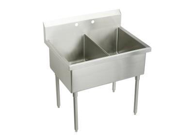 "Image for Elkay Sturdibilt Stainless Steel 63"" x 27-1/2"" x 14"" Floor Mount, Double Compartment Scullery Sink from ELKAY"