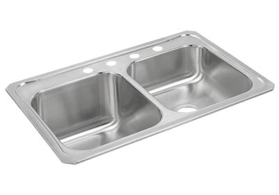 "Image for Elkay Celebrity Stainless Steel 33"" x 22"" x 10-1/4"", Equal Double Bowl Top Mount Sink from ELKAY"