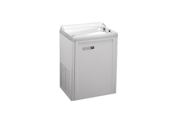 Image for Halsey Taylor Wall Mount Cooler, Non-Filtered 4 GPH Platinum Vinyl from Halsey Taylor