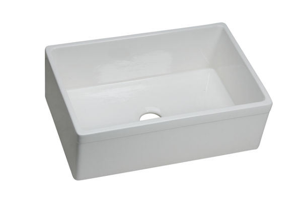 "Elkay Fireclay 29-7/8"" x 19-3/4"" x 10-1/16"", Single Bowl Farmhouse Sink"