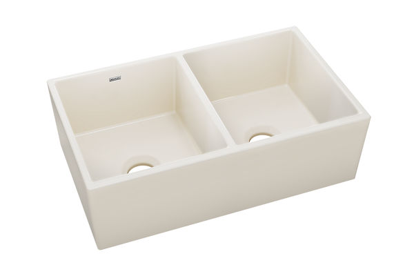 Explore™ Fine Fire Clay Double Bowl Apron Front Undermount Sink
