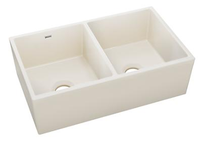 "Image for Elkay Fine Fireclay 33"" x 19-15/16"" x 10-1/8"", Equal Double Bowl Apron Front Sink from ELKAY"