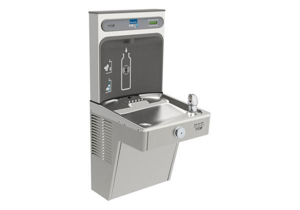 Image for Elkay EZH2O Bottle Filling Station, & Single High Efficiency Vandal-Resistant Cooler, Non-Filtered 8 GPH Stainless from Elkay Latin America