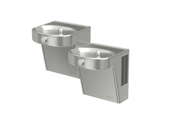 Image for Elkay Cooler Wall Mount Bi-Level ADA Non-Filtered, 8 GPH Stainless from Elkay Latin America