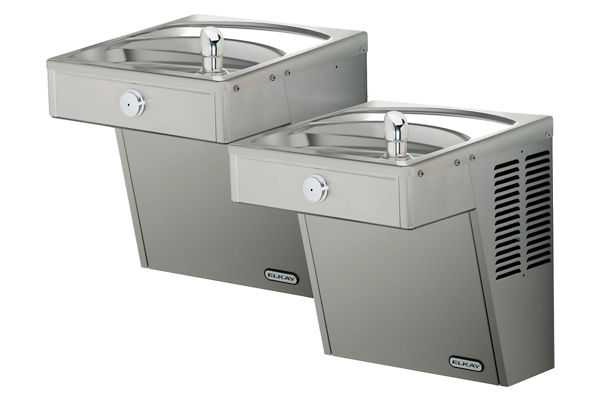 Elkay Cooler Wall Mount Bi-Level ADA Vandal-Resistant, Non-Filtered 8 GPH Stainless 220V