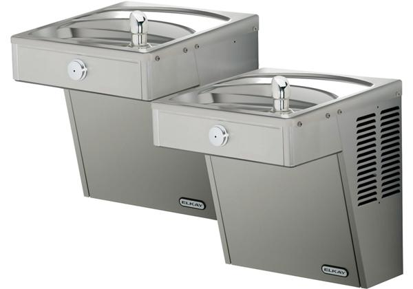 Image for Elkay Cooler Wall Mount Bi-Level ADA Vandal-Resistant, Non-Filtered 8 GPH Stainless 240V from Elkay Middle East