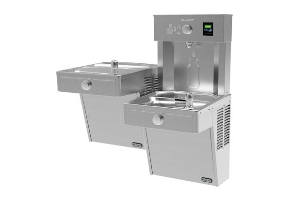 Image for Elkay EZH2O Vandal-Resistant Bottle Filling Station, & Bi-Level Cooler, Non-Filtered Non-Refrigerated Stainless from Elkay Latin America