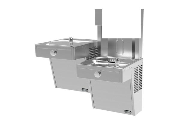 Image for Elkay EZH2O Bottle Filling Station with Bi-Level Cooler, Non-Filtered Non-Refrigerated Vandal-Resistant Stainless 220V from Elkay Latin America