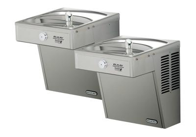Image for Elkay Cooler Wall Mount Bi-Level ADA Frost Resistant, Vandal-Resistant Non-Filtered Non-Refrigerated Stainless from ELKAY