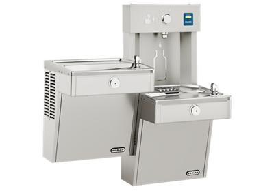 Image for Elkay EZH2O Vandal-Resistant Bottle Filling Station, & Bi-Level Cooler, Non-Filtered Non-Refrigerated Stainless from ELKAY
