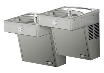 Image for Elkay Cooler Wall Mount Bi-Level Reverse ADA Vandal-Resistant, Non-Filtered Non-Refrigerated Stainless from ELKAY